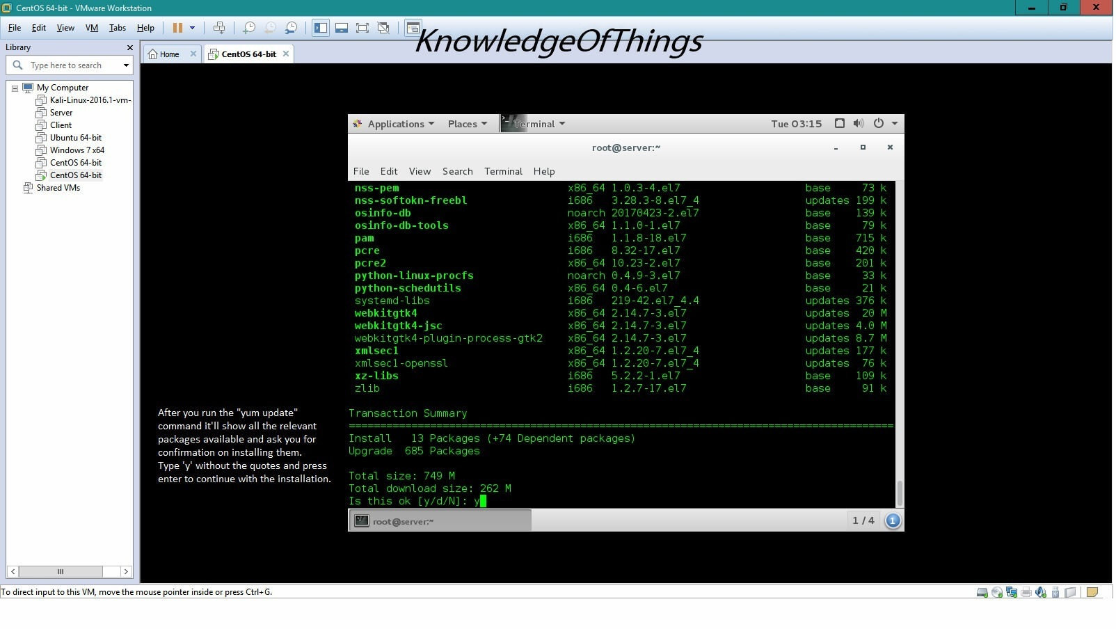 RPM' packages on CentOS 7 with 'YUM' - Knowledge of Things