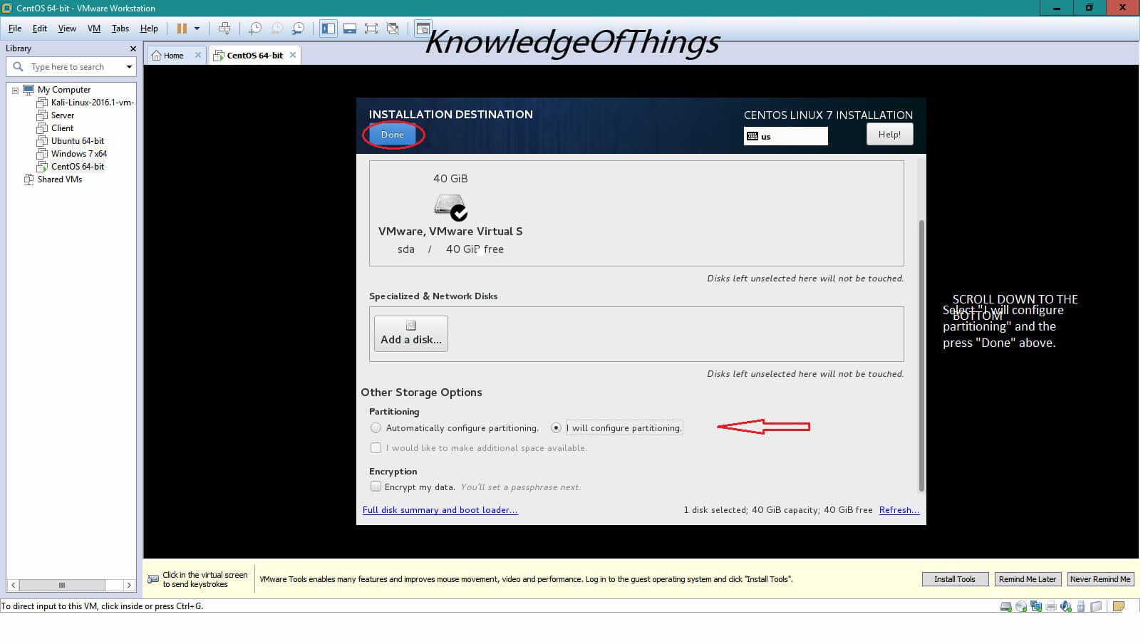 Install CentOS 7 as a Virtual Machine using VMware Workstation