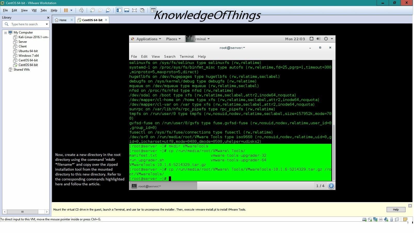 Install CentOS 7 as a Virtual Machine using VMware