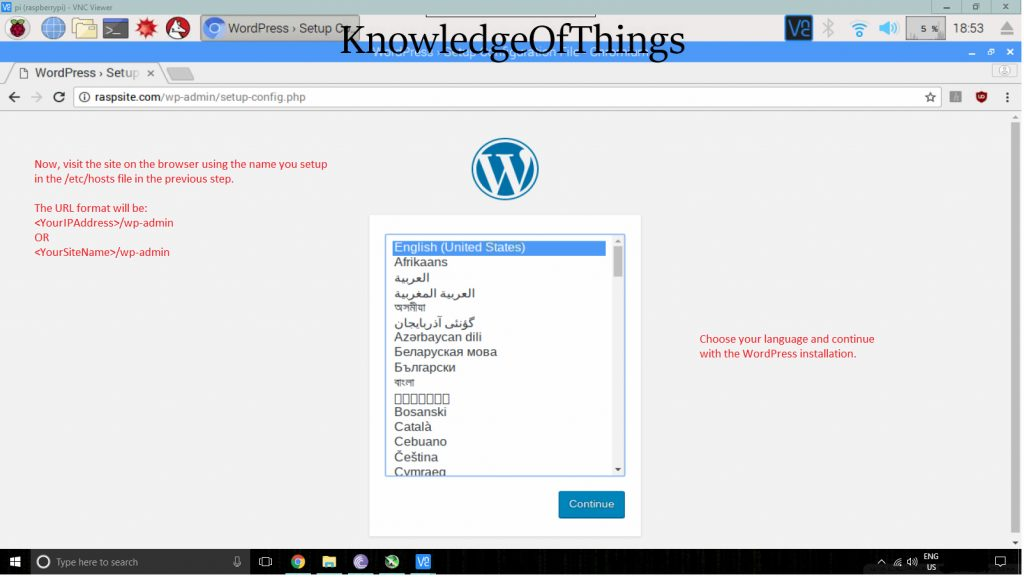 WordPress phpMyAdmin on Raspberry Pi 3 with MariaDB and PHP7
