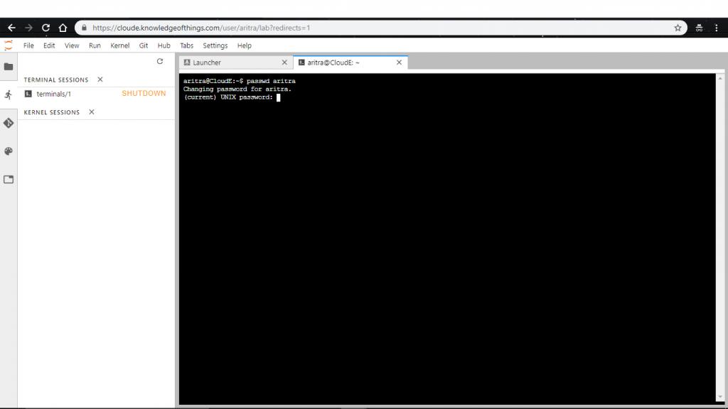 password update linux